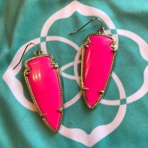 Kendra Scott neon pink Skylar earrings